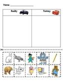 Reality vs. Fantasy--Kindergarten Reading Street Unit 2