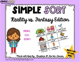 Reality vs. Fantasy Sorting Cards