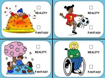 Reality vs Fantasy Teaching Cards