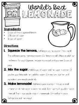 Really Bad Lemonade (Inferencing Mini-Unit)