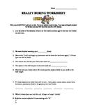 Really Boring Worksheet