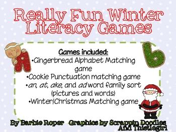 Really Fun Winter Literacy Games