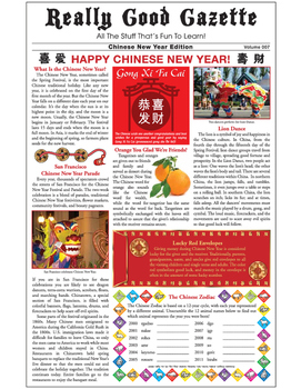 Really Good Gazette - Chinese New Year