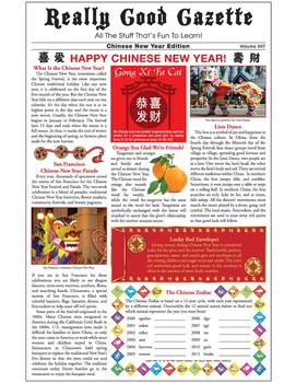 Really Good Gazette - Chinese New Year