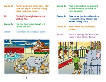 Really Good Readers' Theater:  Night Time at the Zoo