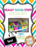 Really Good Stuff Book Bin Labels *Editable
