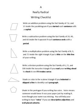 Really Radical Writing Checklist