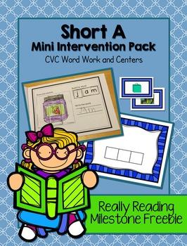 Really Reading Milestone Freebie: Short A CVC Intervention Packet