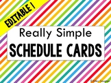 Really Simple Schedule Cards | Editable | Back to School