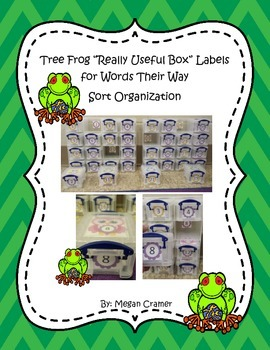 """Really Useful Box"" Tree Frog Labels for Words Their Way S"