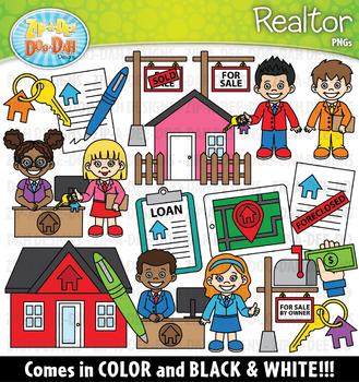 Realtor Community Helpers Clipart {Zip-A-Dee-Doo-Dah Designs}