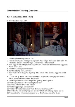 Rear Window - Detailed Viewing Questions (with Answers)
