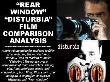 """""""Rear Window"""" """"Disturbia"""" Movie Comparison Notes"""
