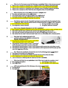 Rear Window Film (1954) 15-Question Multiple Choice Quiz