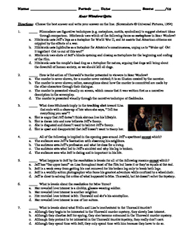 Rear Window Film (1954) 15-Question Multiple Choice Quiz