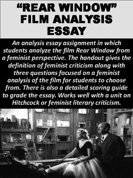 rear window teaching resources teachers pay teachers  rear window film analysis essay ·