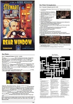 Rear Window Study Guide - Active Learning Tasks Bundle
