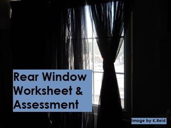 Rear Window (a film) Worksheet & Assessment