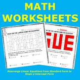 Rearrange Linear Equations from Standard Form to Slope y-i