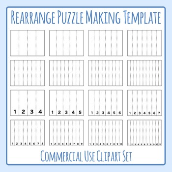 Rearrange Puzzle Generating Images / Layout / Template Clip Art Commercial Use