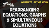 Rearranging Equations, Graphs & Simultaneous Equations - Complete Unit of Work