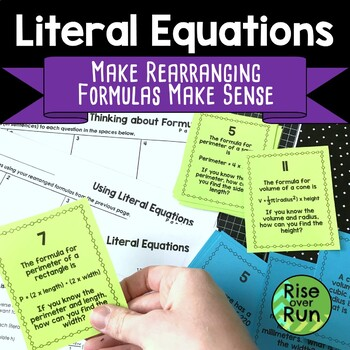 Rearranging Formulas and Literal Equations
