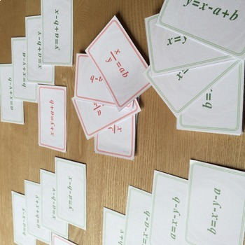Rearranging Race   card game for the practice of rearranging equations