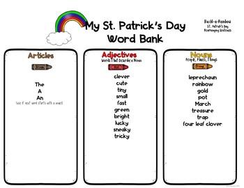 St. Patrick's Day Cut and Paste: Rearranging Sentences