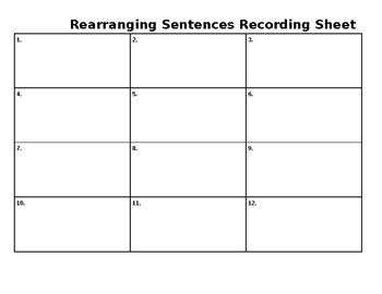 Rearrange Sentences Worksheets & Teaching Resources | TpT