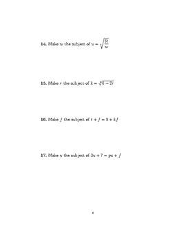 Rearranging formulae 3