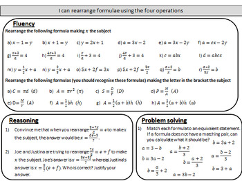 Rearranging formulae/changing the subject - Complete lesson ...