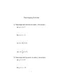 Rearranging formulae (introductory)