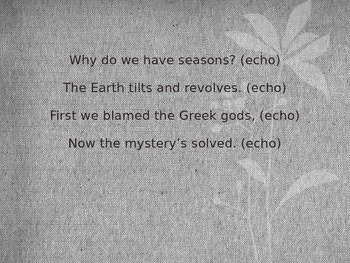 Reason for Seasons Chant