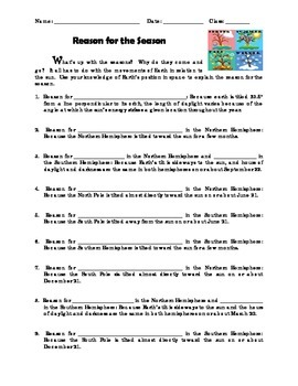Reason for the Season - Reinforcement Worksheet