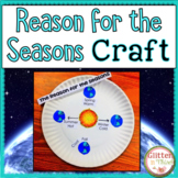 Reason for the Seasons Earth's Tilt Activity Craft