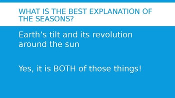 Reason for the Seasons quiz review