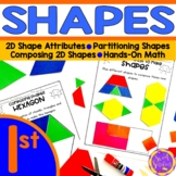 First Grade Shapes - Attributes (1.G.1, 1.G.2, 1.G.3)