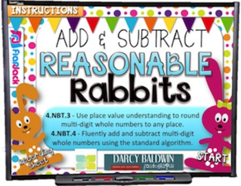 Reasonable Rabbits Adding Subtracting PowerPoint Game