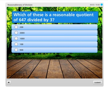 Reasonableness of Division | Quick Self-Grading Computer Activity