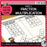 Multiplying Fractions and Mixed Numbers | Math Center Acti