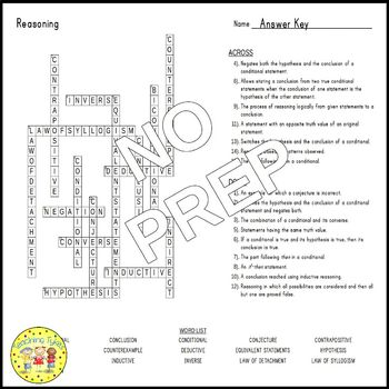 Reasoning Crossword Puzzle