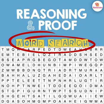 Reasoning & Proof Word Search Activity