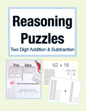 Reasoning Puzzles (2 Digit Addition/Subtraction): Math Talk (Gr. 2-3)