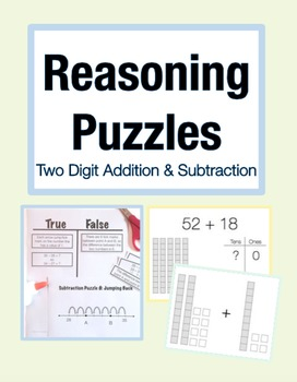 Reasoning Puzzles (2 Digit Addition/Subtraction): Math Talk (Gr. 2-3)