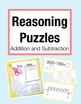 Reasoning Puzzles (Addition/Subtraction): Activities for M