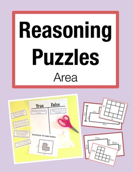 Reasoning Puzzles (Area): Activities to Engage in Math Talk (Gr. 3-4)