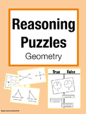 Reasoning Puzzles (Geometry):Activities for Math Talk (Gr. 3-4)