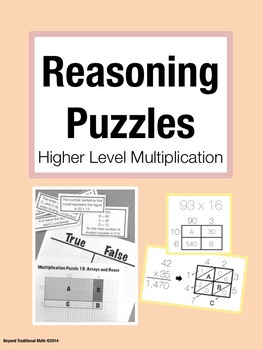 Reasoning Puzzles (High Level Multiplication):Activities for Math Talk (Gr. 3-5)