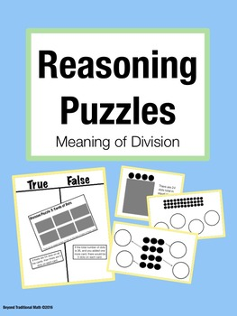 Reasoning Puzzles (Meaning of Division):Activities for Mat