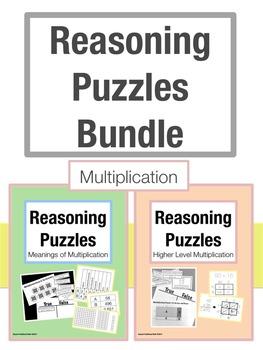 Reasoning Puzzles Multiplication Bundle: Grades 2-4